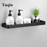 Bathroom Shelves Shelf Bath Shower Aluminum Black Corner Wall Mounted Kitchen Storage Holder
