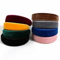 Cabelo aro esponja anel headband cor candy cor largo flannel rede celebridade vermelho inspirado multicolor jóias handmade acessadori