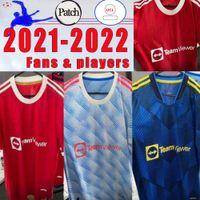 2021 2022 Rashford Van de Beek Soccer Jerseys Gans Player Cavani United 4th HumeRace Fourder Women Shirt Outd B. Fernandes 21 22 Manchester Man One S-XXL