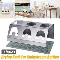 3 Holes Stainless Steel Cup Holder Drainer For Sodastream Crystal s Baby Bottle Drain Drying Racks