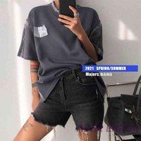 Nuevo verano Anti Delijeba ADER21 Transparente Plástico Bordado Bordado Diseño Camiseta de manga corta para hombres y mujeres