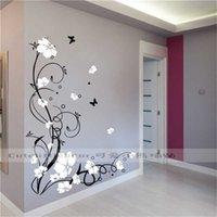 Büyük Kelebek Asma Çiçek Vinil Çıkarılabilir Duvar Çıkartmaları Ağacı Duvar Sanatı Çıkartmaları Mural Oturma Odası Yatak Odası Ev Dekor için TX-109 X0703