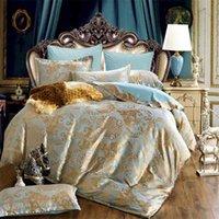 Jacquard Lett Set Lenzuola per Casa Cover Duvet 220x240 Copriletto Euro Doppio cuscino Tessile Tessile Camera da letto di lusso Comforter 210727