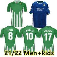 21 22 Real Betis Soccer Jerseys Joaquin B.Ignesias Camiseta de fútbol Loren Juanmi Bartra Telo A.Guardado Casa Away Canales Fekir 2021 2022 Camicie da calcio