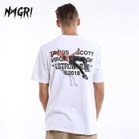 Nagri Men T-Shirt Fan Lettera Stampa Travis Scotts Astroworld Pocket Graphic Tshirsts Streetwear Hip Hop Tee 210629