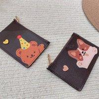 Billetera dama hombro colgajo cruz cuerpo bolsa letras floral cuadrado monedero monedero bolso de dibujos animados oso perro largo corto asas mochila 2021 mujeres diseñadores de lujo bolsos bolsos