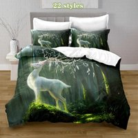 Bedding Sets 100% Polyester Fantasy Deer Down Quilt Cover Digital Printing Set With Pillowcase Boy And Girl