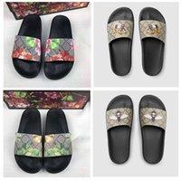Klassieke mannen dia's dames sandalen schoenen slippers parel slang print dia 2021 mode zomer brede platte dame sandaal slipper stof tas 35-45