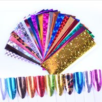 Nail Art Stickers Decalcomanie Stampa lucida Glitter Silver Gold Leopard Nailstickers Star 24 Styles Laser 40mmx100mm