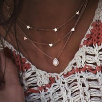 Pendant Necklaces Layered For Women Women's Round Double Layers Chain Necklace Teen Girls
