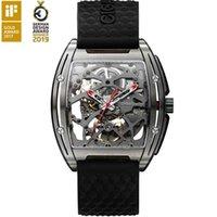 디자이너 럭셔리 브랜드 시계 Itanium 케이스 망 비즈니스 자동 손목 실리콘 가죽 스트랩 30m 방수 시계 남성 Relogio