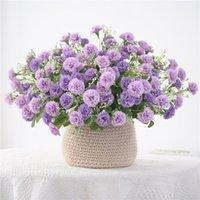 Kleine lila Blumen Bündel künstliche gefälschte Seide Flores für Home Party Garten Dekoration Kranz 20 Köpfe dekorative Kränze