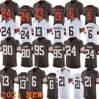 """Cleveland """"Browns"""" Männer Fußball 13 Odell Beckham JR 6 Bäcker Mayfield 95 Myles Garrett 24 Nick Chubb 80 Jarvis Landry Jersey"""