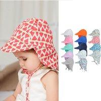 Commercio all'ingrosso Ins Bucket Sole Cappello per bambini Bambini Qualità floreale 14 colori Neonati erba erba pescatore cappelli di paglia