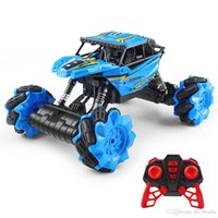 Kids electric remote control model cars 360 rotation four-wheel climbing vehicle with cool light toys 2.4GR C Off-Road drift boys gift 04