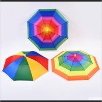 Umbrellas House Sundries Home Jardin Livraison Livraison 2021 Plein air pliable Sun Parapluie Chapeau Rainbow Adulte Enfants Golf Pêche Camping Sha