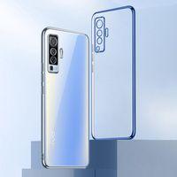 Cep Telefonu Torbalar Vivo X50 X51 X21 X23 X27 X30 Pro Artı Silikon Coque Vivox50 X50PRO 5G Ince Temizle Kapak Funda
