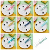 Fashion Baby Silicone Spoon Alimentation Vaisselle Vaisselle Ustensiles Sous-tête Sous-tête Soupes Soupes Taille: 16 * 2cm