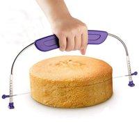 베이킹 과자 도구 조정 가능한 케이크 레벨러 스테인레스 스틸 넓은 전문 층 슬라이서 커터 블레이드 잘라 톱 장식
