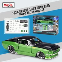 Maisto 1:24 1967 Mustang GT Assembled DIY Die-casting Car Model Toy New Collection Boy Toys