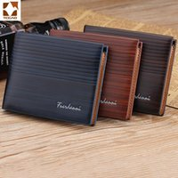 Wallets TCGAD 2021 Summer Fashion Luxury Men's Short Purse High Quality Leather Retro Style Card Pack Thin Wallet