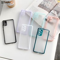 Shockproof Matte Silicone Phone Case For Samsung Galaxy A51 A71 A42 A12 A21s A31 A11 A41 A72 A01 A50 A30 A52 A32 4G Back Cover