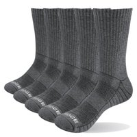 Sports Socks Yuedge Men Thick Breathable Cotton Cushion Crew Outdoor Hiking Trekking Work Boot For 38-47 Eu