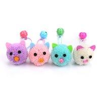 Katze Spielzeug AGN Spielzeug Plüsch Mauskopfform mit Glocken für Katzen Catnip Kätzchen Mini Falsches Haustier