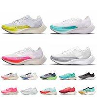 Nike Air ZoomX Vaporfly Next% النساء الرجال الاحذية تنفس فاليريان الأزرق الوردي Ekiden الشريط الأزرق كن صحيح العدائين أحذية رياضية 36-45