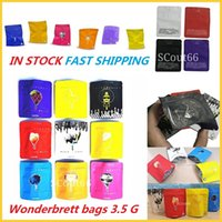 New Wonderbrett bags 3.5 Grams Soft Touch Skin mylar oz kush black orchid Childproof Smell Proof Cookies TROLLI TRRLLI TRIPS AHOY DOWEEDOS Baribo in stock fast