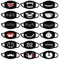 Cotone antipolvere anime cartoon kpop fortunato orso cute espressione maschera bocca maschere maschera nera maschera bocca metà muffle owb6216