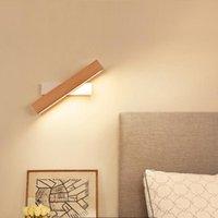 Wall Lamps Wooden LED Lamp 360° Adjustable Rectangle Light Living Room Modern Bedroom Bedside Night Lights Corridor Decor