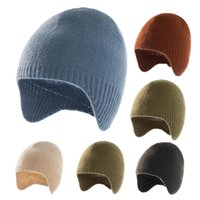Beanies Kids Toddler Baby Winter Beanie Hat Children's Warm Knit Thick Ski Cap Boys Girls High Quality Solid Color Pompom Skullies #4
