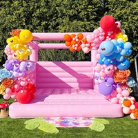 Macaron Pink 4.5x4m 4x3.5m Inflatable Jumping Wedding Bouncy Castle Bounce House Bouncer For Sale