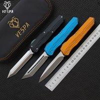 Pieghevole qualità Vespa maniglia: 7075alumino + TC4, coltelli da esterno ad alto coltello Blade: M390 EDC Versione Survival Strumento di spedizione, Camping gratuito QDPXi