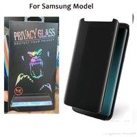 COMINCAN PRIVACY gehard glasbeschermer 3d gebogen 9u casusvriendelijk voor Samsung Galaxy Note 9 8 S8 S9 Plus Anti Spy Peeping Screen-dekking
