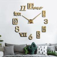Creative 3D DIY Acrylic Digital Wall Clock Fashionable Living Room Decoration Mute Clocks