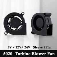 Fans & Coolings 10 Pieces Gdstime 5020 DC 5V 12V 24V 50mm X 20mm Turbo Blower Fan 5cm 2Pin Centrifugal Turbine Cooling Cooler For 3D Printer
