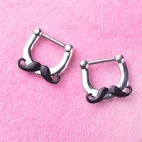 FALSO NOSES STAND BARD ACCIAIO INOSSIDABILE ANELLO NOSTRO Noseclip Trend Trend nasal clip per puntura gioielli ornamento 3 5LL Y2