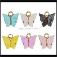 Anhänger Schmetterling Charms DIY Acryl Für Halskette Armband Anhänger Handgemachte Geschenke Ornament Niedlichen Schmuckzubehör 10pcslot DHB1311 LRJFD