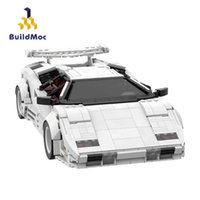 Buidlmoc Technical Car Speed Champions City Racer Countachs QV Vehicle Creator Expert MOC Sets Model Building Blocks Kids Toys Q0624