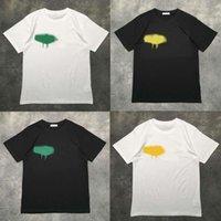 Lüks T-shirt Tasarımcısı Marka Palms Melekler T Gömlek PA Giyim Sprey Mektubu Kısa Kollu İlkbahar Yaz Gelgit Erkekler ve Kadınlar Aynı
