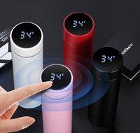 Bouteilles Mode Smart Tasse Smart Température Affichage Vacuoir En acier inoxydable Bouteille de bouteille Thermo avec écran tactile LCD Coupe-cadeau DBC JF2 Q3ZET