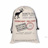 Монограммируемые Santa Sacks Рождественские подарочные пакеты Santa Sack Drawstring Bag Santa Claus Deer 39 Designs Bulk FWE8185