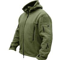 Designer Láctico Militar Tactical Outdoors Softshell Fleece Chaqueta Hombres Ejército Ejército Polartec Sportswear Ropa Cálido Casual Sudadera con capucha Abrigo Chaqueta
