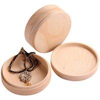 Caixa de anel de faia pequena caixa de madeira embalagem de madeira maciça madeira jóias com tampa caixa de madeira armazenamento presentes embalagem