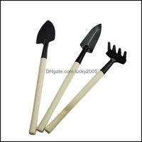 Tools Home & Garden3Pcs Set Children Mini Compact Plant Garden Hand Wood Kit Spade Shovel Rake For Gardener Pot Cture Tool Drop Delivery 202