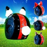 Motosiklet Kaskları 2 adet / takım Araba Kask Dekorasyon Kedi Kulakları Yaratıcı Elmas Peluş Yapıştır Motosiklet Cosplay Stil Styling Için
