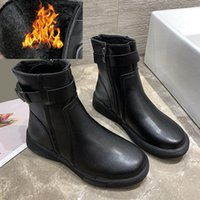 Boots Winter Black Plush Ankle Women Warm Waterproof Fur Snow Woman Comfortable Low Heels Motorcycle Botas