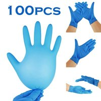 Five Fingers Gloves 100PC Nitrile Disposable Waterproof Powder Free Latex For Household Kitchen Laboratory Cleaning Gloves#2021